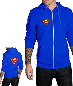 Decrum Mens Royal Blue Zip Up Hoodie