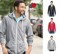 Fruit of the Loom Mens SofSpun Jersey Hooded Full-Zip T-Shir