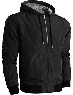 Hat and Beyond Mens Windbreaker Active Lightweight Hooded Ja