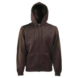 Fruit of the Loom Mens Womens Premium Hooded Sweat Jacket Zi