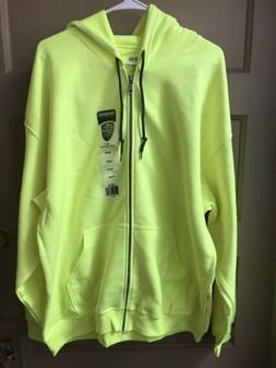 Gildan Mens Yellow Heavy Blend Adult Full Zip Hooded Zipped