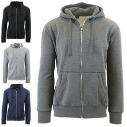 Mens Zip-Up Hoodies Fitted Zipper Sweaters Sweatshirts Warm