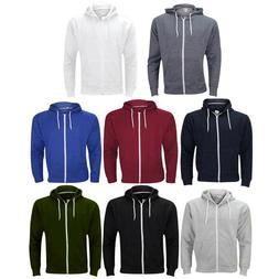 Mens Zipper Hoodie American Zip Up Fleece Sweatshirts Jumper