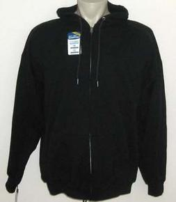 NEW 3XL FRUIT OF THE LOOM MENS HOODY Black Zippered Hoodie H