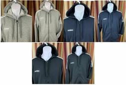NEW Men's Adidas French Terry Full Zip Sweatshirt Hoody Acti