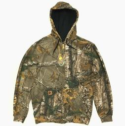 New Men's Carhartt Full Zip Camo Hoodie Realtree XTRA Camouf