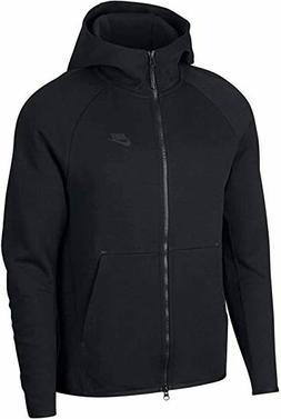 New Nike Men's Sportswear Tech Fleece Full Zip Hoodie Black