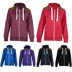 New Mens Fleece Hoodie Zip Up Sweatshirt Hoody Pullover Jump