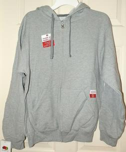 New Mens Medium 38-40 Light Gray Zippered Hoodie Jacket Frui