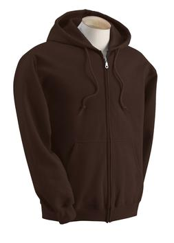 NEW Gildan Zipper Hoodie Men Ladies Unisex Brown Medium Hood
