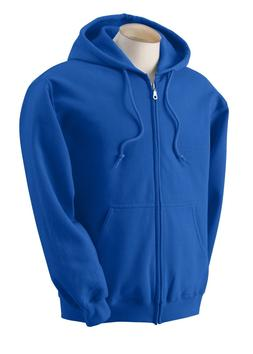 NEW Gildan Zipper Hoodie Men Ladies Unisex Royal Blue 2XL Ho