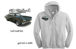 NEW ZIPPERED HOODIE 1970 Chevelle SS Custom Green