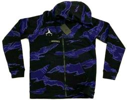 Nike Jordan Jumpman Full Zip Fleece Hoodie Purple Black Camo