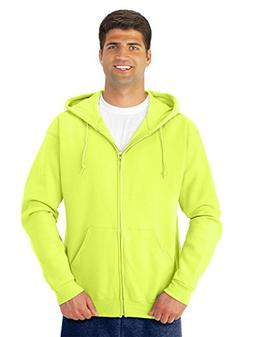 Jerzees Adult NuBlend Hooded Full-Zip Sweatshirt - Safety Gr