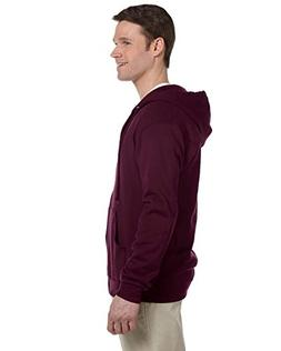 Jerzees Nublend Men's Full-Zip Hooded Sweatshirt, Maroon, X-