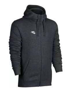 NWT Men's Big & Tall Nike Club Full-Zip Fleece Hoodie - Char
