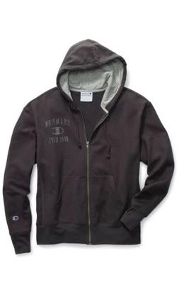 NWT-Champion Men's Heritage Hoodie Full Zip Up Size-Large Co