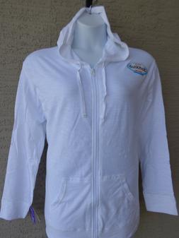 NWT Hanes  XL Light Weight Slub Cotton Zip Up Hoodie Jacket