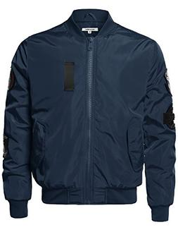 Style by William Premium Quality Patch Flight Bomber Jacket