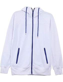 Hat and Beyond Mens RB Full Zip Up Fleece Active Hooded Swea