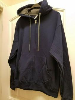 Fruit of The Loom Sefspun Hooded Full Zipper Sweat Shirt Med