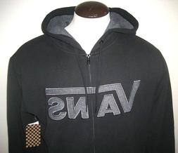 Vans Shoes Mens Drop V Classic Zipper hoodie Sweatshirt Blac