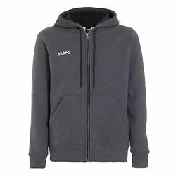 street logo full zip fleece mens hoodie