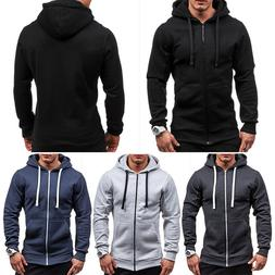 Sudaderas Hombre, Men's Athletic Warm Soft Winter, Zip Up Sw