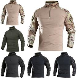 Tactical Combat Hoodie Military Army Long Sleeve Zipper T-Sh