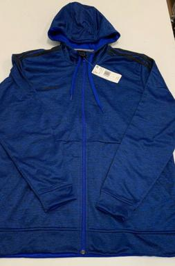 Adidas Tech Hoodie Royal Blue NEW mens zipper jacket Large