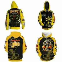 The Karate Kid Cobra Kai Hoodie Cosplay Jacket Zip Coat Swea