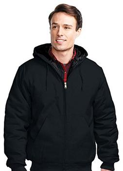 Tri-Mountain Men's Foreman Hooded Work Jacket, 2XLT, BLACK