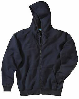 Tri-Mountain Men's Full Zip Sueded Finish Rib Knit Hooded Sw