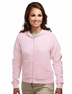Tri-Mountain Women's Lightweight Full Zip Hooded Fleece Casu