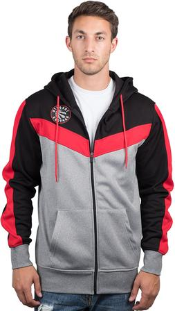 Ultra Game NBA Men's Full Zip Soft Fleece Sweatshirt Hoodi