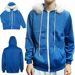 Undertale Sans Zipper Hoodie Costume Blue Hooded Jacket Cosp