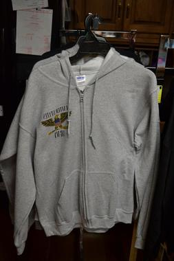 United States Army Zippered Hooded Sweatshirt - 50/50/Cotton