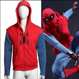 US! Spider-Man:Homecoming Peter ParkeHooded Coat Jacket Top