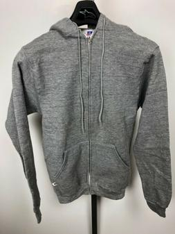 Vintage RUSSELL ATHLETIC Mens Small hoodie grey zip up cotto