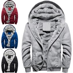 Winter Hood Men Fleece Hoodie Jacket Zipper Hooded Sweatshir