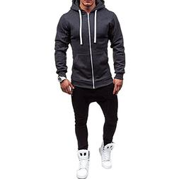 Men's Winter Lightweight Hoodie Warm Coat Jacket Full Zip Sl