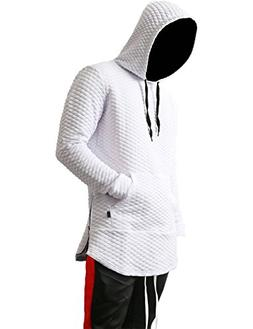 Hat and Beyond WIV Mens Hoodie Diamond Quilted Zipper Hipste