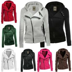 women casual slim jumper ladies zipper tops