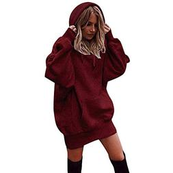 Sinfu Women Fashion Solid Color Clothes Hoodies Pullover Coa