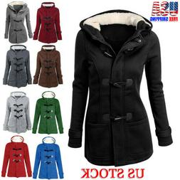 Women Parka Hooded Coat Zipper Jacket Outwear Winter Warm Lo