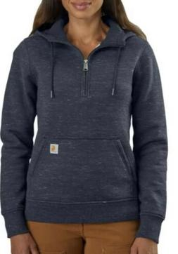 Carhartt Women's Hoodie Red Size Medium Clarksburg Half-Zip