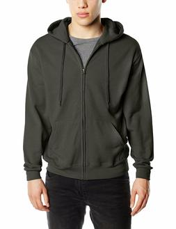 Fruit Of The Loom Zip Through Hooded Sweatshirt Hoody Hoodie